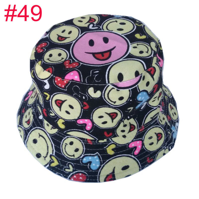 679a1fc961ea 2019 Bnaturalwell Kids Summer Hat Bucket Style Printing Sun Hat ...