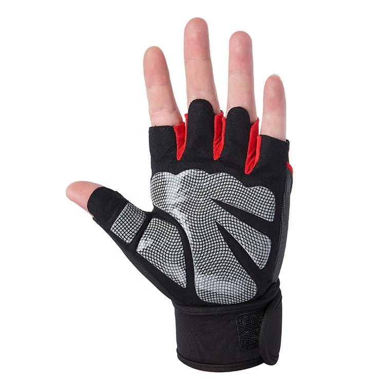 Breathable Anti Slip Cycling Half Finger Outdoor Sport Mountain Road Bike Riding Gloves