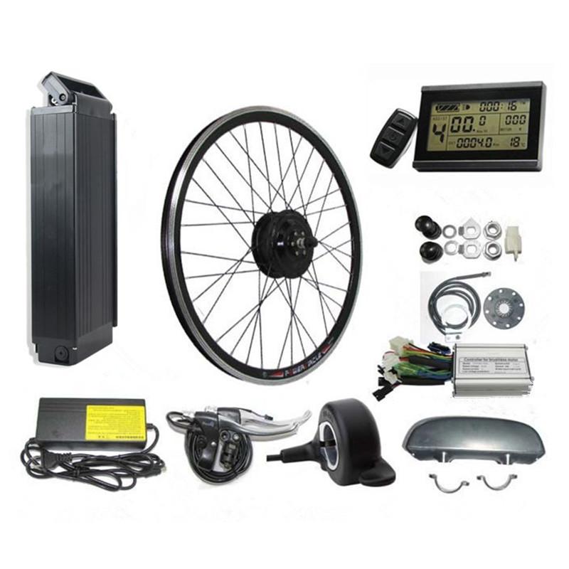 E Bike Conversion Kit 250W 350W 500W Motor Rear Rack Battery 36V 13AH Electric Bike Kit
