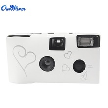 wholesale 20 sets Single Use Disposable Wedding Bridal Camera 36 photos Silver Funny Heart With Flash and Table Card