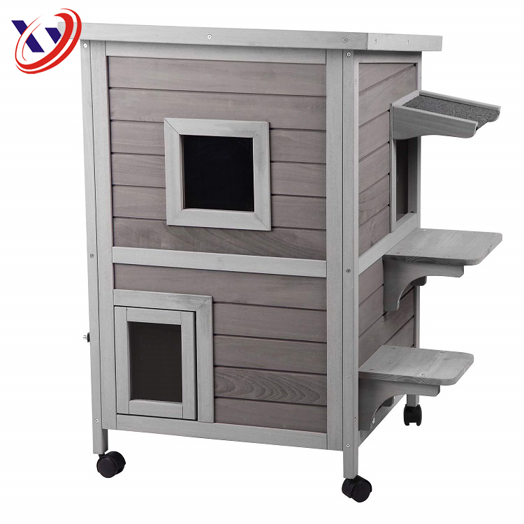 Wholesale Pet Cages Carrier Outdoor Garden Wooden Cat House For Sale Buy Indoor Cat Tree House Custome Cat Cages Unique Cat House Product On Alibaba Com