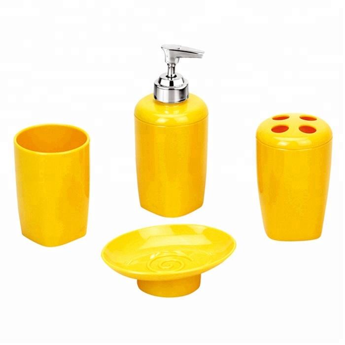 Yellow Traditional Plastic Bathroom Accessories Set Buy Yellow Bathroom Accessories Set Yellow Bathroom Sets Traditional Bathroom Accessories Set Product On Alibaba Com