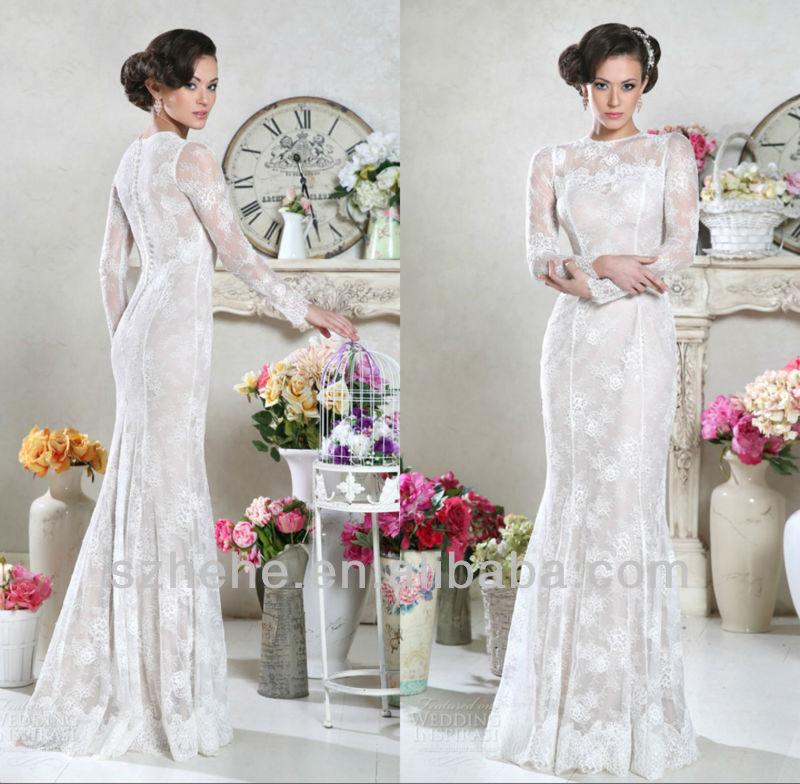 Elegant Simple Long Sleeve Wedding Dress: Aliexpress.com : Buy New Arrival CW1888 Elegant Muslim