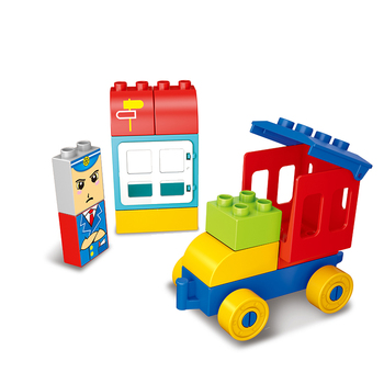 City Train Toddler Construction Toy Set With Toy Train and Track