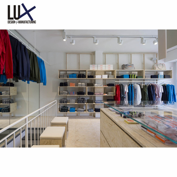 LUX New Style Clothes Store Rack Design Garment Shop Furniture For Shopping Mall