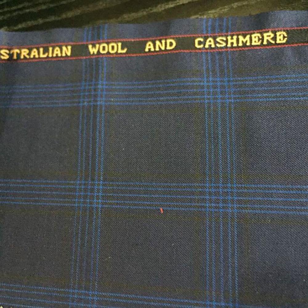 Best selling wholesale plaid men's italian suiting fabric wool