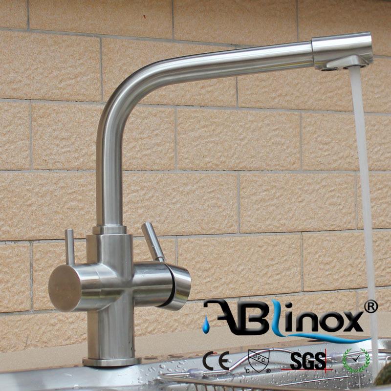 SS 304 двойная функция смеситель для кухни 304 Нержавеющая сталь очиститель 3 way кухонный кран смеситель для кухни