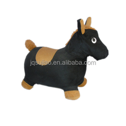 Надувная лошадь-бункер, коричневая плюшевая надувная Прыгающая лошадь, катание на ПВХ, игрушки-животные для детей с крышкой