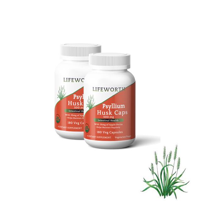 Lifeworth organic slimming dietary fiber psyllium husk capsules