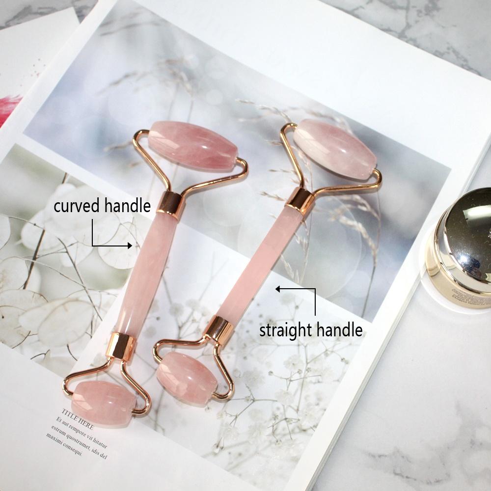 Оптовая продажа, новейший бесшумный розовый КВАРЦЕВЫЙ ролик, розовый ролик для лица, натуральный массажный ролик для красоты