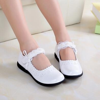 Весна и осень дети свободного покроя обувь девочки женское дети кожа обувь принцесса обувь один сандалии