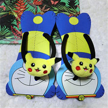 Дизайнерские Вьетнамки; Женская обувь на плоской подошве; 5 сандалий; Обувь из плюша Pokemon Go; Тапочки с забавными животными; Мягкие Шлепанцы на...(Китай)
