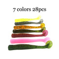 28PC Lot Soft Fishing Lure 7 5cm 3g Fake Artificial Bait Fishing Lures Soft Plastic For