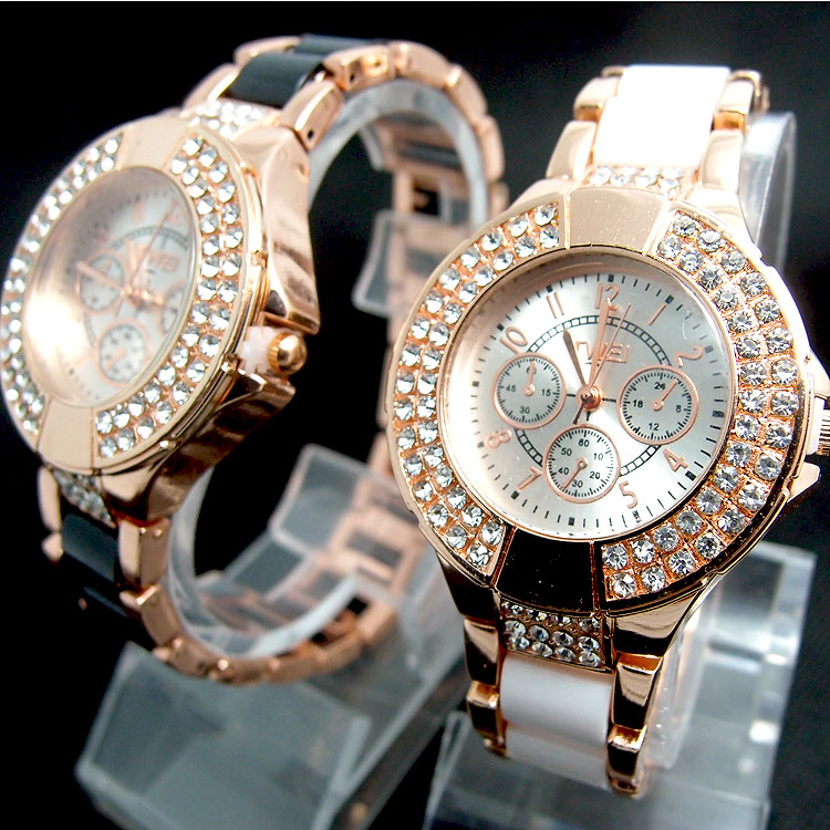 Fashion Promotion Brand Rose Gold Tone Watch Women Ladies ...