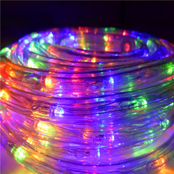 Строительный контур, гибкий теплый Helloween Ip65 100 м, Рождество, белый цвет, веревка, светильники, уличная красная светодиодная лента