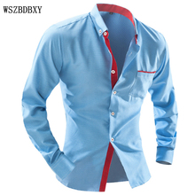 Brand 2016 Dress Shirts Mens Polka Dot Shirt Slim Fit Chemise Homme Long sleeve Men Shirt Heren Hemden Slim Camisa Masculina