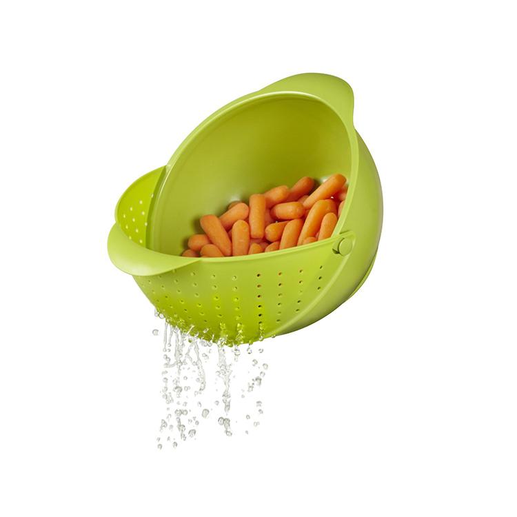Eco-Friendly Plastic Rinse Bowl & Strainer