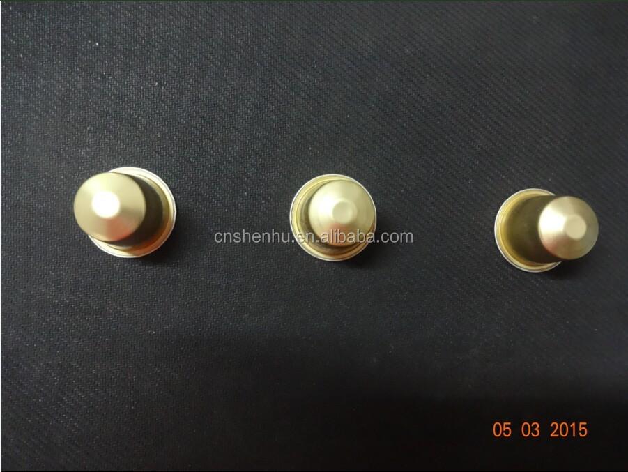 Пустые алюминиевые кофейные капсулы/пустые капсулы nespresso/37 мм кофейные капсулы
