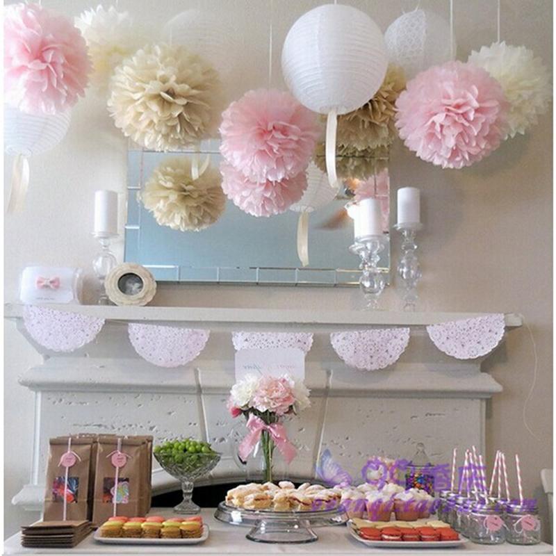 15pcs mixed size 15cm 20cm 25cm tissue paper pom poms balls wedding decoration festival baby. Black Bedroom Furniture Sets. Home Design Ideas