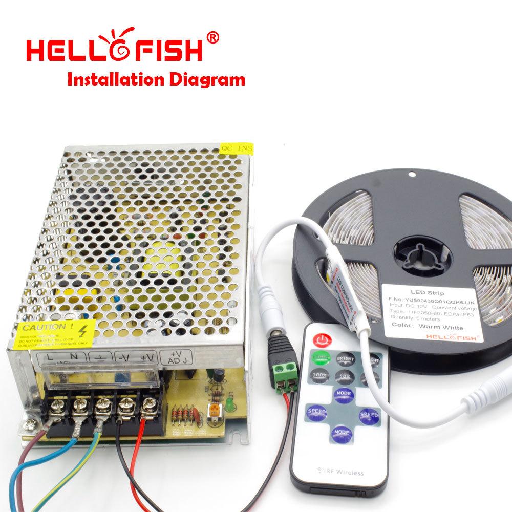 5m 300 LED 3528 SMD 12V RGB אור גמיש 60 led/מ', רצועת LED ,משלוח חינם