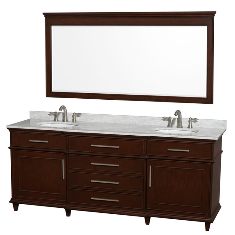 Classic Waterproof Bathroom Vanity with Marble Top