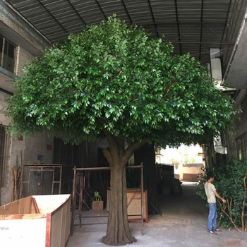 Factory supplier large artificial wall tree indoor decoration large artificial tree banyan ficus plant