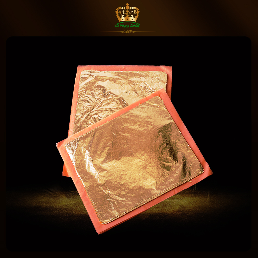 JINGYOU Hoja De Oro De Limitacion,400 Hojas De Papel De Aluminio Dorado De Imitaci/ón,Hoja De Plata,Hoja De Oro Rosa,Hojas De Hoja De Oro Real Hoja De Cobre Oro Imitaci/ón L/ámina Met/álica