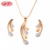 Indian Cubic Zirconia Light Weight Gold Brass Alloy Jewelry Necklace Set