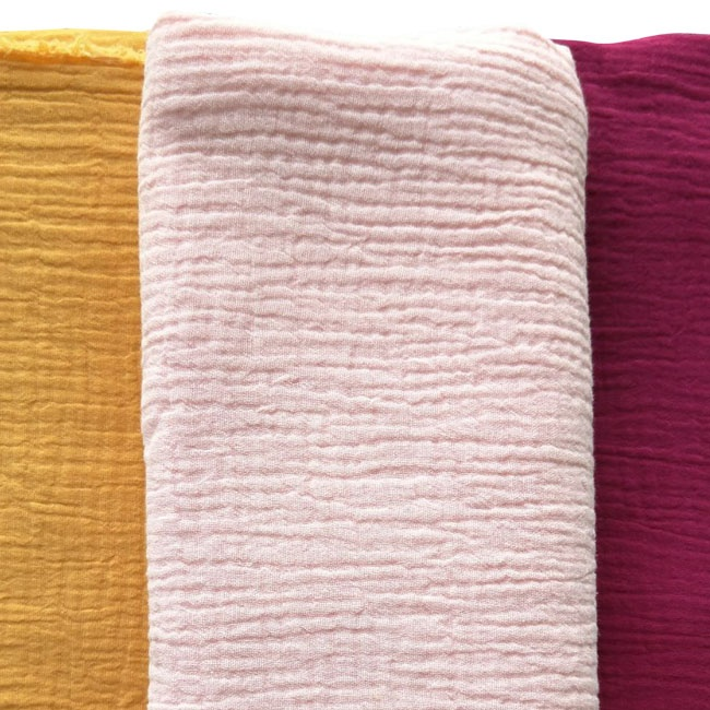Crinkle 100% cotton muslin fabric for wholesale