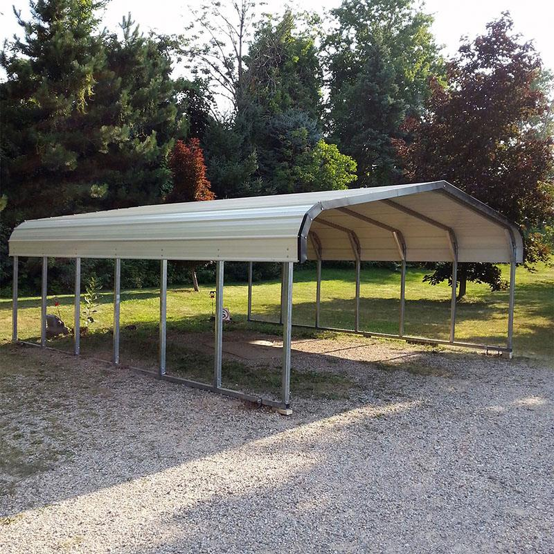 Metal Carports Metal Shed Lean To With Sides Closed Buy High Quality Attached Metal Carports Metal Building Carport Metal Carport Kit Product On Alibaba Com