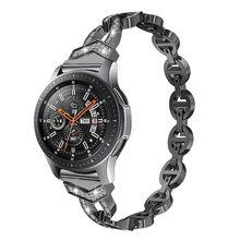 Женский Алмазный ремешок для Huawei Watch GT 2 1 46 мм, браслет для Samsung Galaxy Watch 46 мм/42 мм/Active 2 1/Gear S3(Китай)