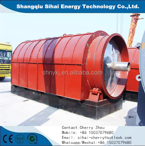 Chnia waste tire recycling pyrolysis machine with TUV ISO