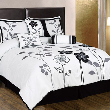 wholesale cheap printed comforters white