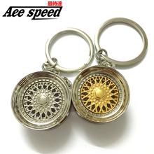 ACE-Aluminum Wheel Rim Keychain Creative Auto Part Car Keyring Key Chain Ring Keyfob Holder