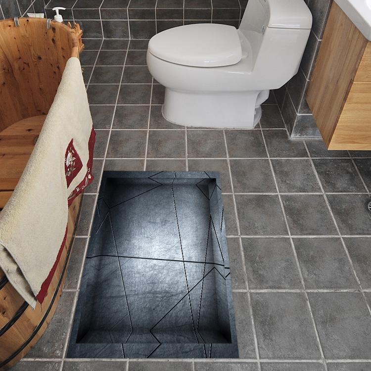 3d anti skid floor stickers waterproof wall stickers - Waterproof floor paint for bathrooms ...
