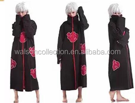 walson Japan anime cosplay costume Naruto Akatsuki cloak Itachi Uchiha cloak costume