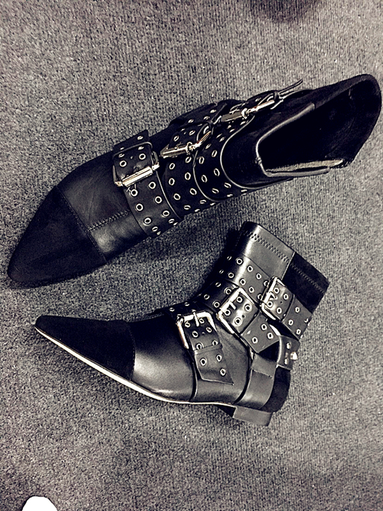 06ab8b2fab 2017 Top Selling Black Dress Shoes Women Pointed Toe Flat Booties ...