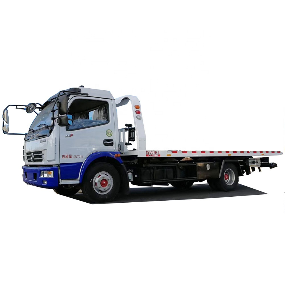 brand new 4X2 6 wheels recovery vehicle 5.6 m bed wrecker flatbed 5 tons tow truck with accessories