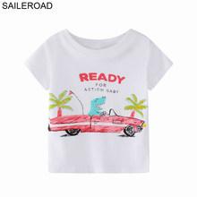 SAILEROAD футболки для мальчиков с вышивкой тракторов, летняя детская одежда с коротким рукавом для детей 7 лет, детская одежда, хлопковые рубашк...(Китай)