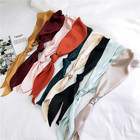 Square Neckercheifs For Business Party Women Elegant Small Vintage Skinny Retro Head Neck artificial silk Satin Scarf