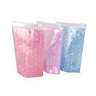 Pouch Cosmetic Cosmetic Ziplock Plastic Bag Best Selling Fashion Pvc Plastic Ziplock Heart Bubble Bag Stand-up Waterproof Pouch For Cosmetic