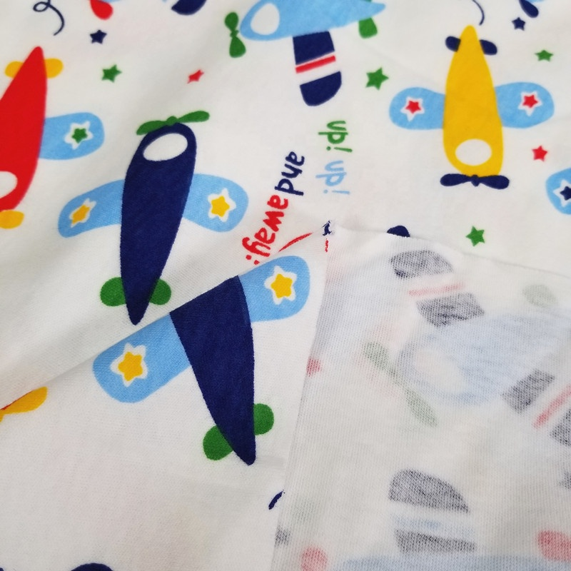 40s newborn cloth fabric Printed cotton knit fabric Low-priced wholesale cloth