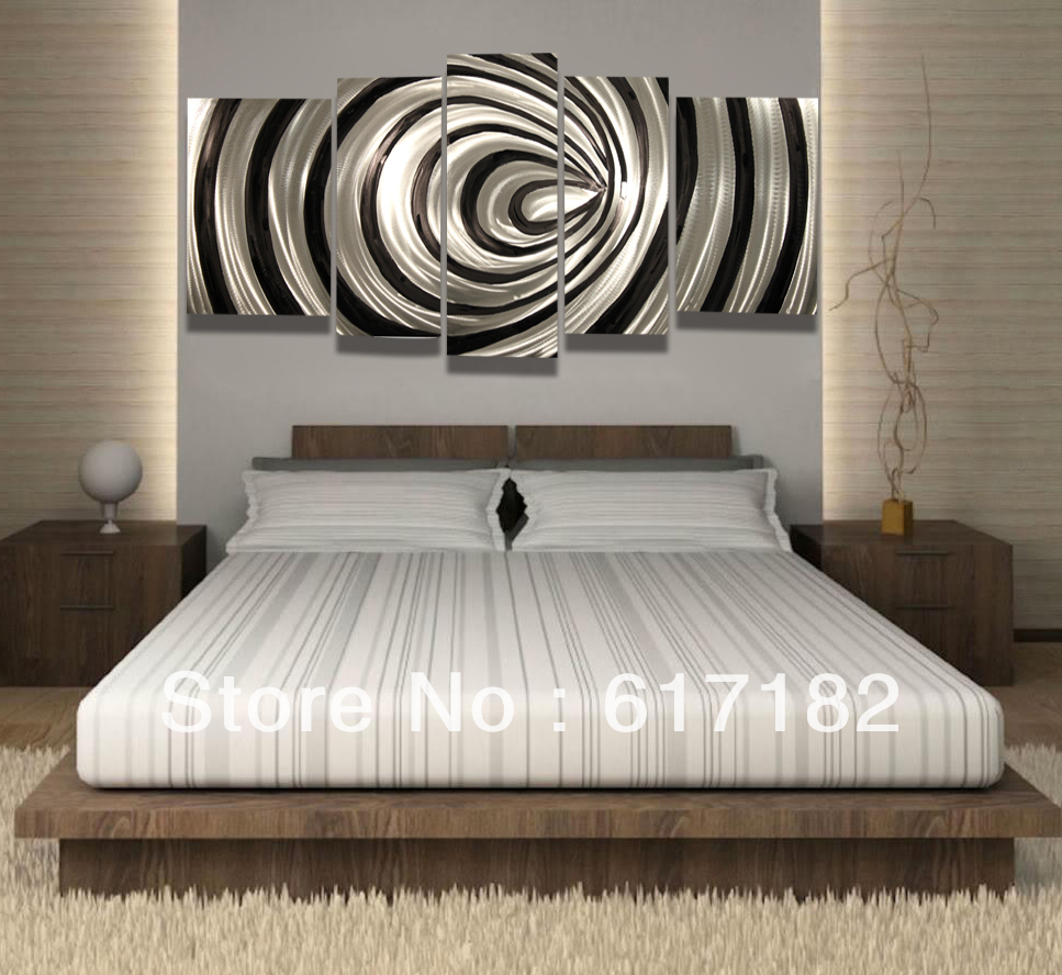 modern contemporary abstract painting metal wall art sculpture wall hanging decorations on. Black Bedroom Furniture Sets. Home Design Ideas