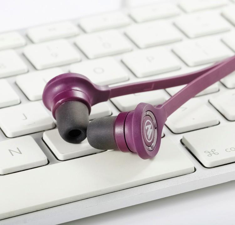 Wallytech WHF-115 כבל שטוח ב-האוזן אוזניות עבור iPhone 5s 6s 6plus עם מיקרופון ושליטה על עוצמת קול אוזניות משלוח חינם