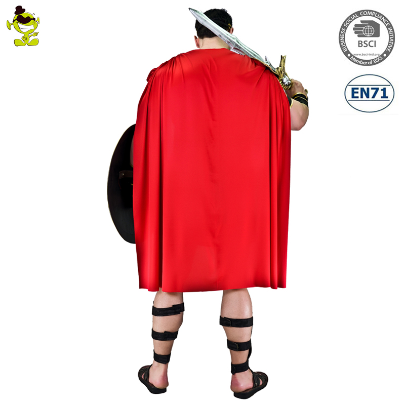 Luxury Medieval Warrior Outfit Carnival Party Adult Roman Gladiator Soldier Costume for Men