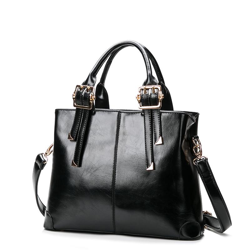 Popular Handbags 2016 Ladies Bags Black Leather Prada Bags