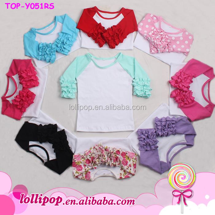 Wholesale Blank Raglan Baseball Shirt Girls Tunic Raglan Baby Raglan Baseball Raglan Blank Raglan Baseball Shirt Girls Tunic Shirt Dress