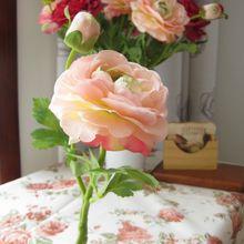 2 цветочных головки, европейские шелковые цветы, 1 шт. букет, искусственные весенние яркие пионы, искусственные листья, свадебные украшения д...(Китай)