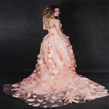 Рояльное платье для фотосъемки в наличии, красные Новые цветочные лепестки для свадьбы 2020, сексуальное свадебное платье для женщин и девоче...(China)