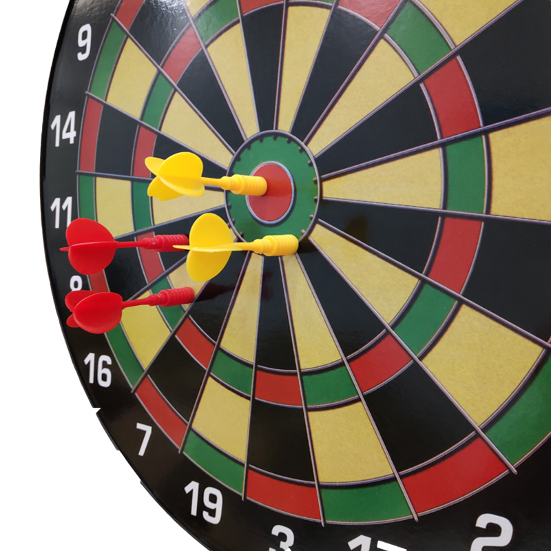 Magnetic Dartboard Set - 16 Inch Dart Board with 6 Magnet Darts for Kids and Adults, Gift for Game Room, Office, and Home